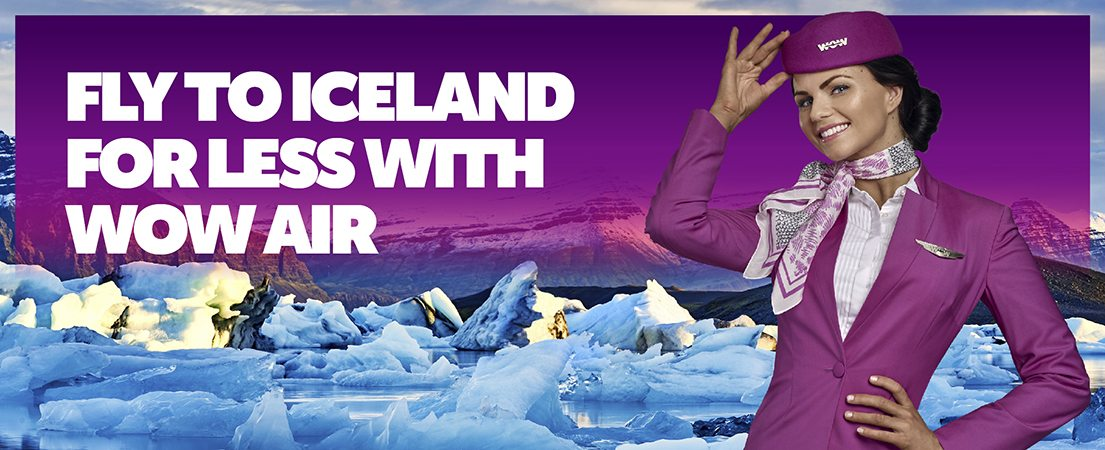 WOW air - Fly to Iceland with us - Visit Vatnajökull