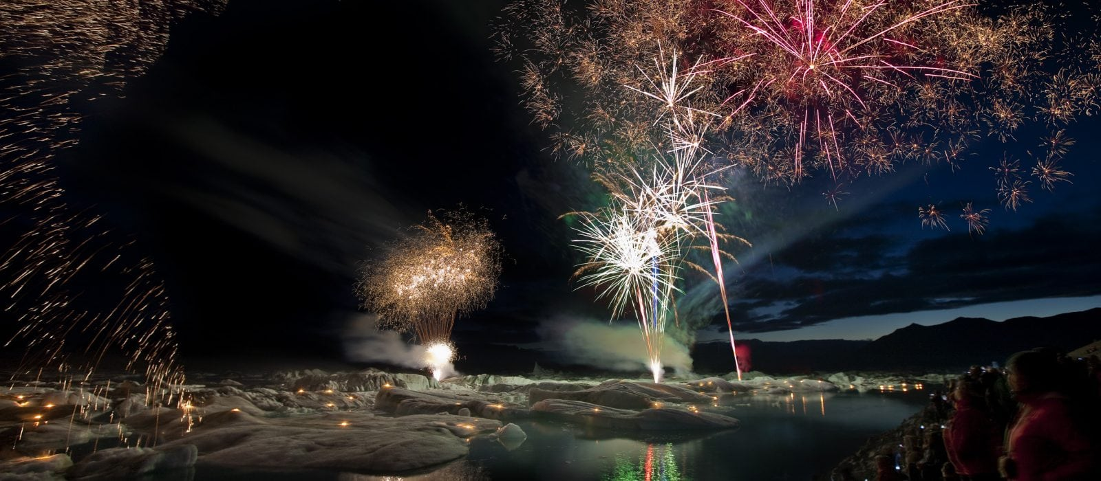 firework show - visitvatnajokull