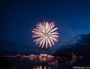 Firework at Jökulsárlón